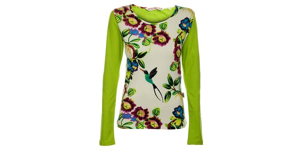Dámské zelené triko s dlouhým rukávem Savage Culture