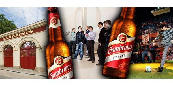 120 Kč za zážitkovou prohlídku pivovaru Gambrinus a multibalení 10 piv!
