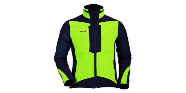 Pánská zeleno-černá softshellová bunda Izas