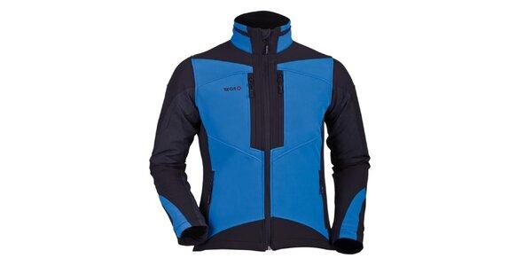 Pánská modro-černá softshellová bunda Izas