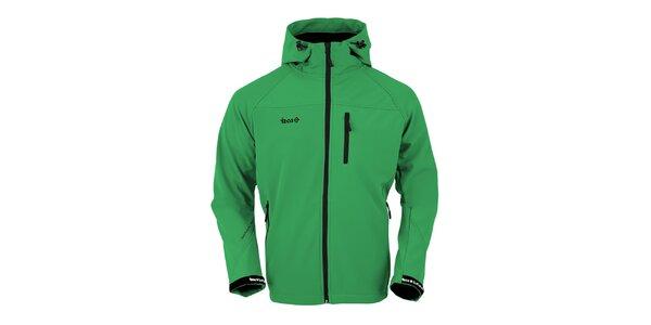 Pánská zelená softshellová bunda Izas