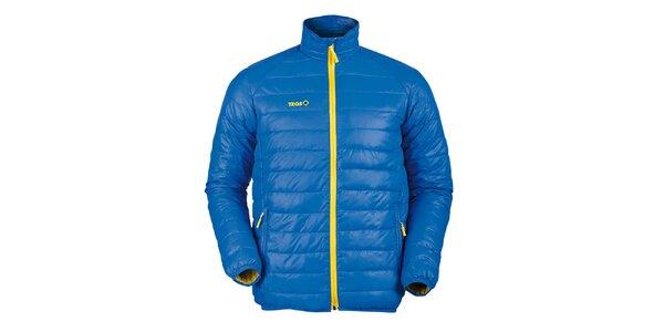 Pánská prošívaná péřová bunda v modré barvě Izas