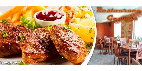 Masový Grill Mix pro dva v restauraci Georgia