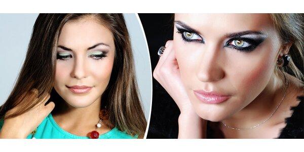 Permanentní make-up - horní, dolní linky, kontura rtů s výplní nebo obočí