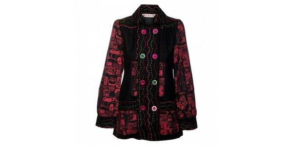 Dámský krátký černočervený kabátek Savage Culture
