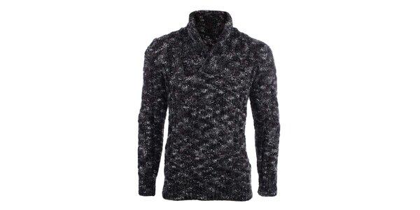 Pánský žíhaný svetr s límečkem Big Star