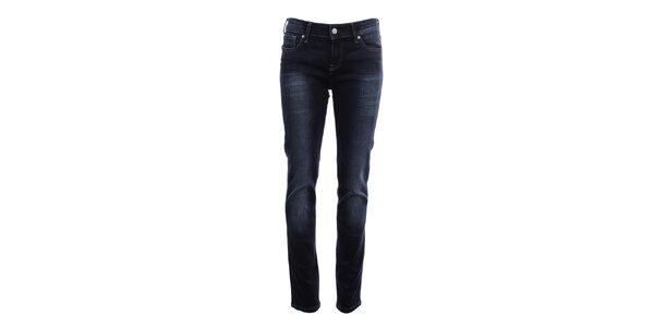 Dámské tmavě modré džíny s šisováním Big Star