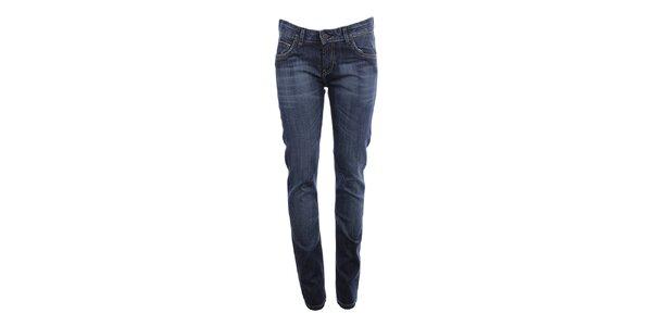 Dámské modré džíny s ozdobným šisováním Big Star
