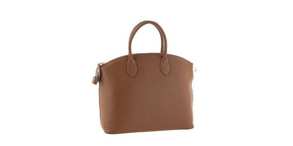 Dámská hnědá kožená kufříková kabelka Classe Regina