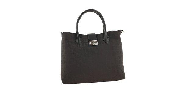 Dámská černá kabelka se vzorem Classe regina