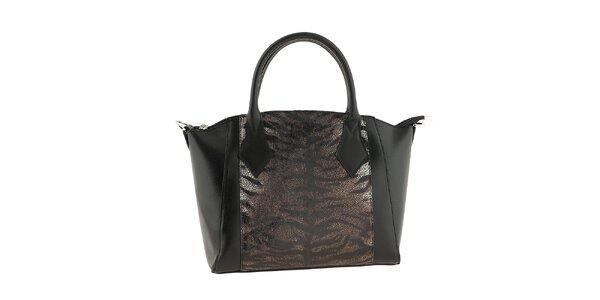 Dámská černá kabelka s odepínacím popruhem Classe regina