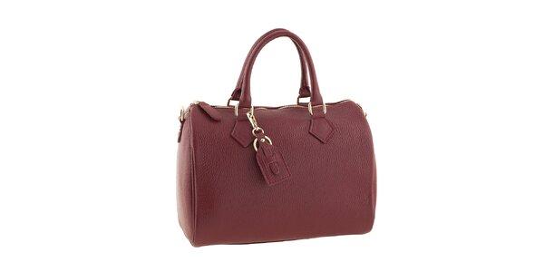 Dámská červená kabelka na zip Classe regina