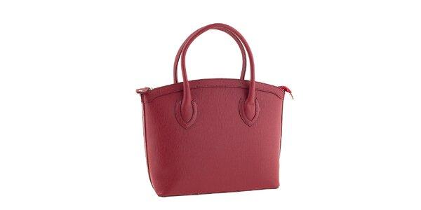 Dámská červená kožená kabelka Classe regina