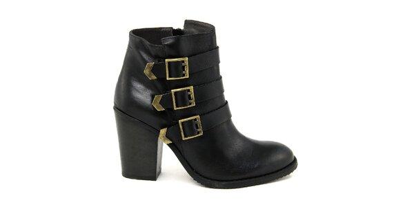 Dámské černé boty se třemi pásky Paola Ferri
