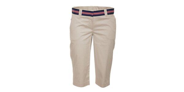Béžové dámské tříčtvrteční kalhoty Naf Naf