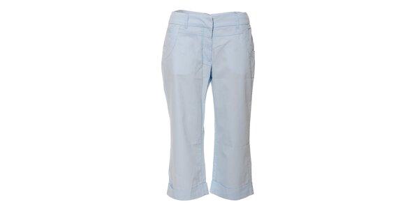 Světle modré dámské tříčtvrteční kalhoty Naf Naf