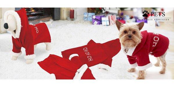 Santaclausovské oblečky pro psy