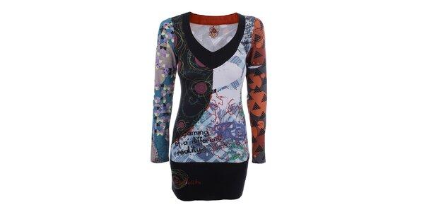 Dámské bavlněné šaty s barevným potiskem Dislay DY Design