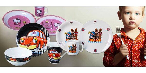 Dětské porcelánové jídelní sety nejen s Krtečkem