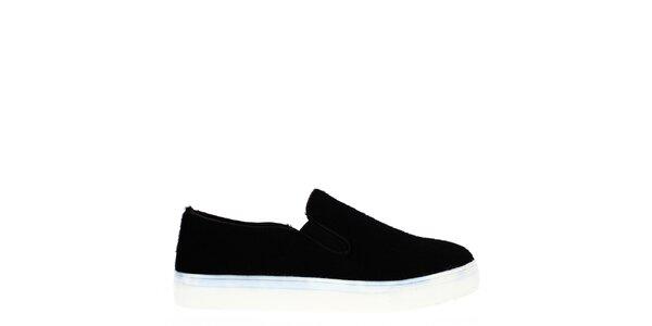 Dámské černé boty s bílou podrážkou Shoes and the City