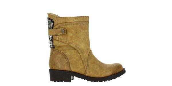 Dámské boty s korálky nad patou Shoes and the City