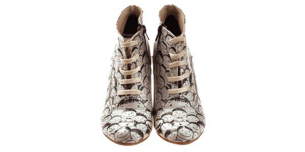 Dámské kotníčkové boty s veselými obličeji Elite Goby