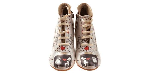 Dámské kotníčkové boty s motivem novomanželů Elite Goby