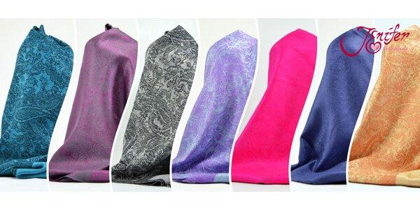 Hebký šál - 33 barev na výběr