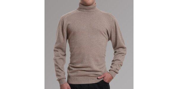Pánský béžový svetr s rolákem Pietro Filipi