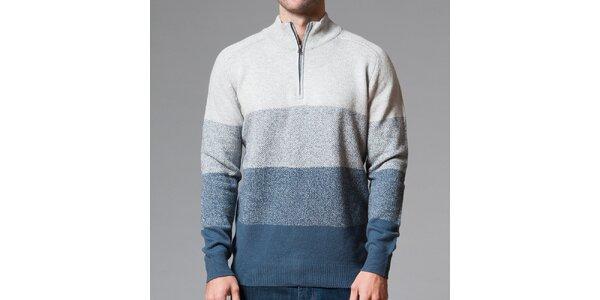 Pánský svetr s modrými pruhy Pietro Filipi
