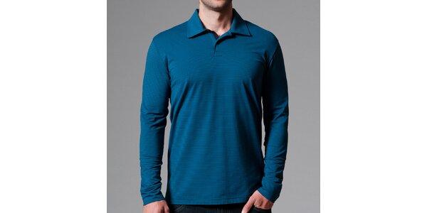 Pánské modré polo tričko s proužky Pietro Filipi