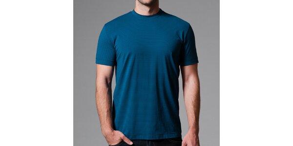 Pánské modré pruhované tričko Pietro Filipi