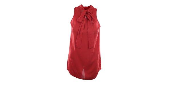 Dámský červený top s mašlí Pietro Filipi