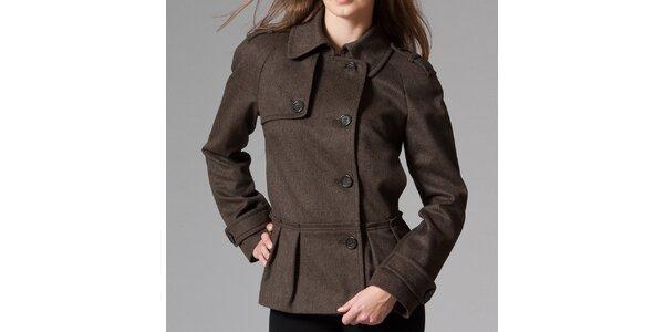 Dámský hnědý krátký kabát Pietro Filipi