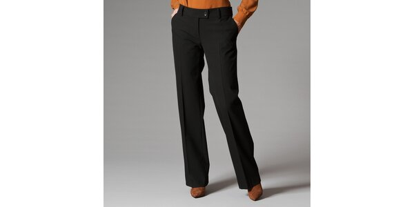 Dámské černé kalhoty s puky Pietro Filipi