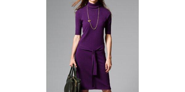 Dámské fialové šaty s roláčkem Pietro Filipi