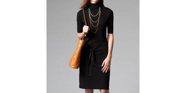 Dámské černé šaty s roláčkem Pietro Filipi