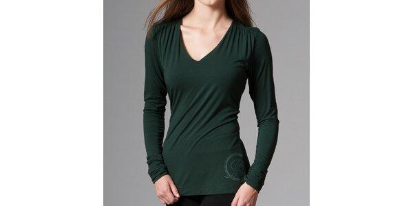 Dámské tmavě zelené tričko Pietro Filipi