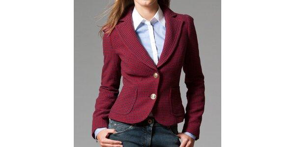 Dámské červeno-modré sako s kohoutí stopou Pietro Filipi