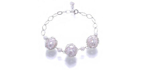 Dámský náramek Orchira se třemi velkými perlami