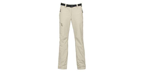 Dámské světle šedé outdoorové strečové kalhoty Bergson