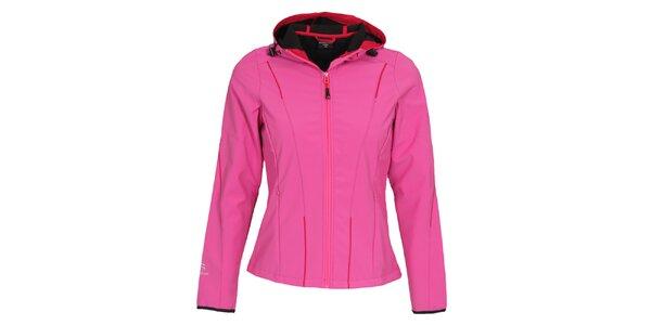 Dámská růžová softshellová bunda s kapucí Bergson