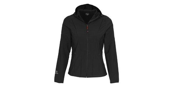 Dámská černá softshellová bunda s kapucí Bergson