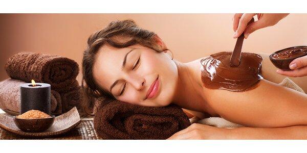 Voňavá čokoládová masáž s peelingem a zábalem