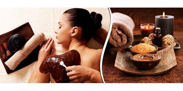 Čokoládové potěšení obličeje nebo celého těla