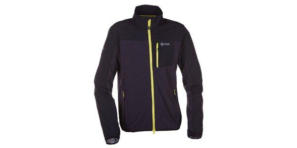 Pánská tmavě šedá softshellová bunda s límcem Kilpi