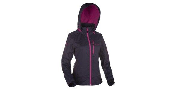 Dámská tmavě šedá softshellová bunda s kapucí Kilpi