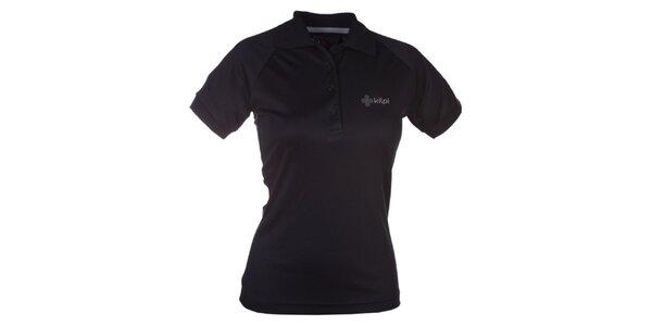 Dámské černé funkční polo tričko Kilpi