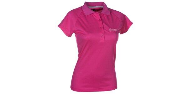 Dámské růžové funkční polo tričko Kilpi