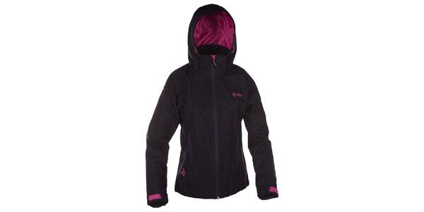 Dámská černá outdoorová bunda s růžovými detaily Kilpi